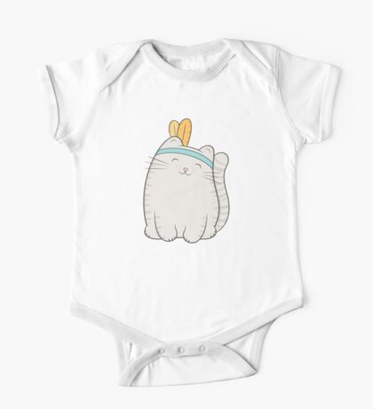 fin, the cat One Piece - Short Sleeve