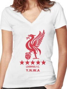 Liverpool - Ynwa Women's Fitted V-Neck T-Shirt