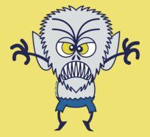 Scary Halloween Werewolf Emoticon Kids Clothes