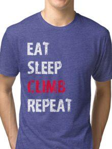 Eat Sleep Climb Repeat Sport Shirt Funny Cute Gift For Climbing Climber Tri-blend T-Shirt