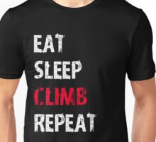 Eat Sleep Climb Repeat Sport Shirt Funny Cute Gift For Climbing Climber Unisex T-Shirt