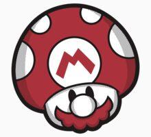 Mushroom Bros (Mario sticker) by Olipop