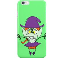 Scary Halloween Witch Emoticon iPhone Case/Skin