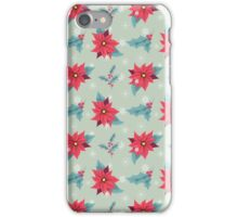 Poinsettia patterns iPhone Case/Skin