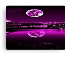 Nights Twilight Purple Sky Canvas Print