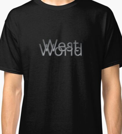 Westworld Text Classic T-Shirt