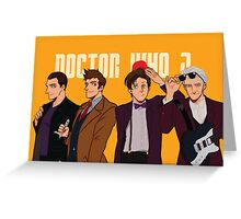 Doctor Who Post Card / New Doctors  Greeting Card