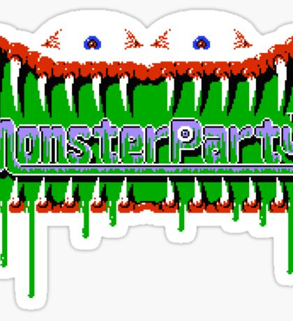 Monster Party - NES Title Screen Sticker