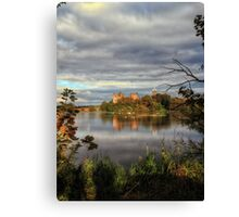 Linlithgow Loch and Palace, Long Exposure Canvas Print