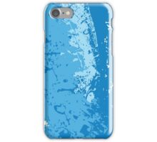 Blue  Soda; Abstract Digital Vector Art iPhone Case/Skin