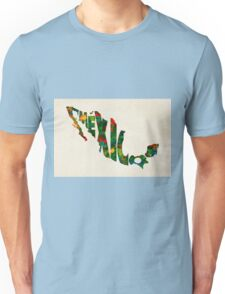 Mexico Typographic Watercolor Map Unisex T-Shirt