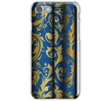 Blue Curtain Call; Abstract Digital Vector Art iPhone Case/Skin