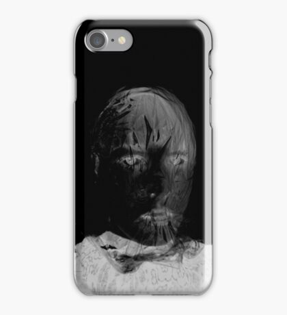 Spooky, Ghostly, Abstracted Face, Photography iPhone Case/Skin