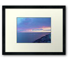 Sunset over Woody Point Queensland Australia Framed Print