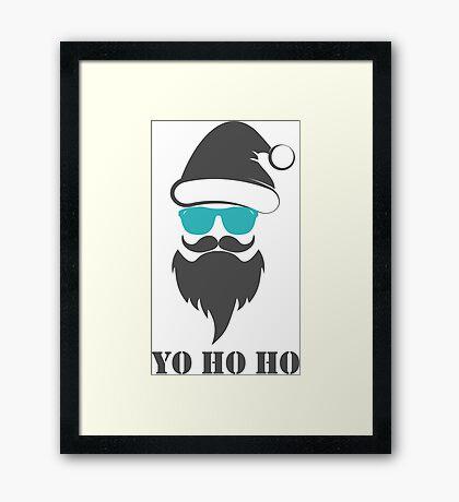 Santa Claus Christmas Gift Casual Cool Design Framed Print