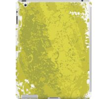 Grungy Clean Green; Abstract Digital Vector Art iPad Case/Skin