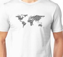 World Map black Unisex T-Shirt