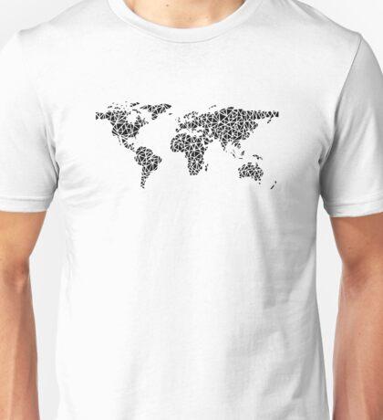 World Map black Unisex T-Shirt