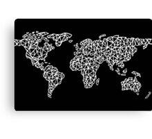 World Map black Canvas Print