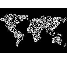 World Map black Photographic Print