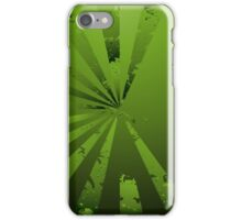 Funky Greeny; Abstract Digital Vector Art iPhone Case/Skin