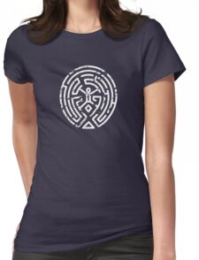 Westworld Maze Distressed Womens Fitted T-Shirt