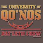 University of Qo'Nos: Bat'leth Crew (firebrand edition) by Groatsworth