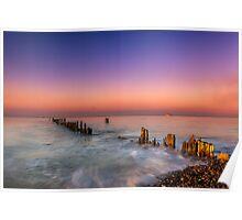 Bembridge Harbour Wave Break Poster