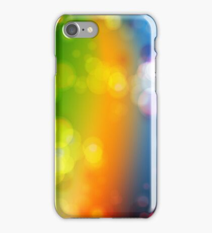 Fading Rainbow Abstract Art iPhone Case/Skin