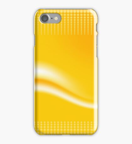 Yellow Wave Abstract Digital Vector  iPhone Case/Skin