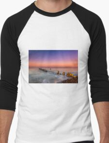 Bembridge Harbour Wave Break Men's Baseball ¾ T-Shirt