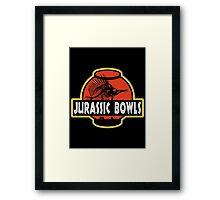 Jurassic Bowls Framed Print