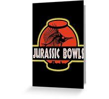 Jurassic Bowls Greeting Card