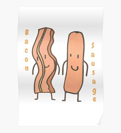 Bacon & Sausage Poster