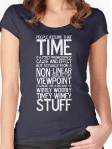 Wibbly Wobbly - Doctor Who Quote Women's Fitted Scoop T-Shirt