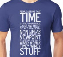 Wibbly Wobbly - Doctor Who Quote Unisex T-Shirt