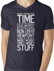 Wibbly Wobbly - Doctor Who Quote Mens V-Neck T-Shirt