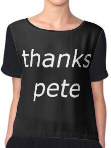 thanks pete white Chiffon Top