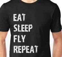 Eat Sleep Fly Repeat Cute Funny Gift For An A Airline Pilot  Unisex T-Shirt