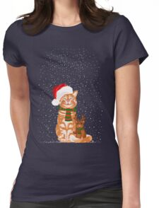 Christmas Buddies Womens Fitted T-Shirt