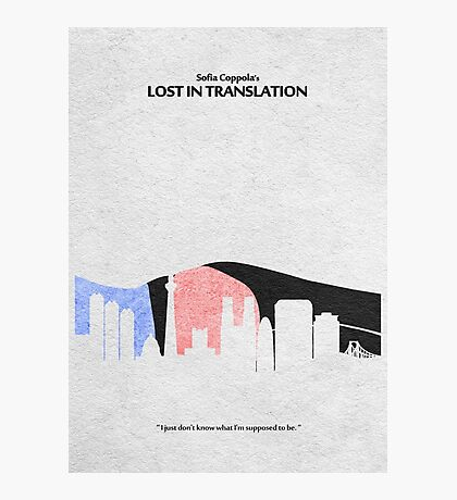 Lost in Translation Photographic Print