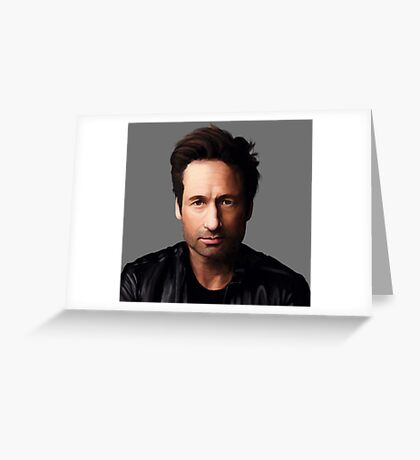 Portrait of David Duchovny Greeting Card