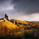 Corfe Castle by Svetlana Sewell