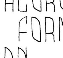 Only chloroform Sticker