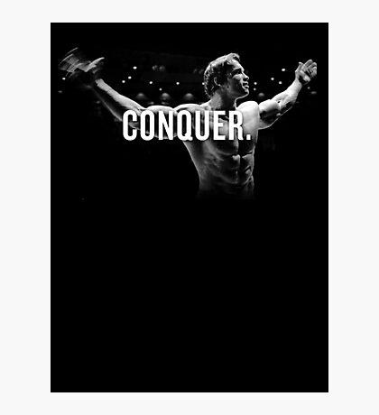 Arnold Schwarzenegger Mr Olympia Conquer  Photographic Print