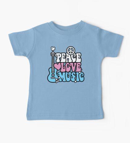 Peace, Love, Music Baby Tee