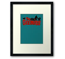The Goonies logo and characters Framed Print
