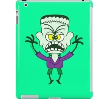 Scary Halloween Frankenstein Emoticon iPad Case/Skin
