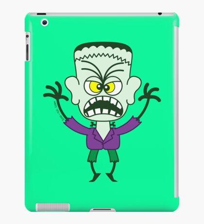 Scary Halloween Frankenstein Emoticon iPad Case/Skin