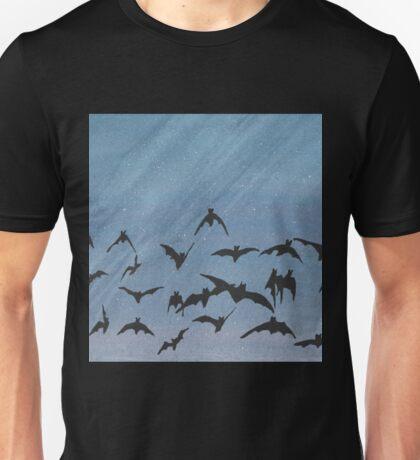 Bats in the night sky Unisex T-Shirt